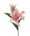 Kunstbloem lelie roze 77 cm