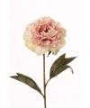 Kunstbloem pioenroos roze 67 cm