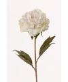 Kunstbloem pioenroos wit 67 cm