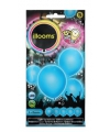 Led licht ballonnen blauw 23 cm 5 stuks