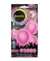 Led licht ballonnen roze 23 cm 5 stuks