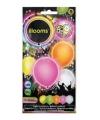 Led licht ballonnen zomerse kleuren 23 cm 5 stuks