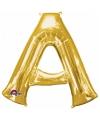Letter a ballon goud 86 cm