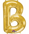 Letter b ballon goud 86 cm