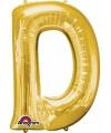 Letter d ballon goud 86 cm