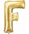 Letter f ballon goud 86 cm