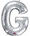 Letter g ballon zilver 86 cm