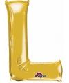 Letter l ballon goud 86 cm