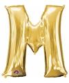 Letter m ballon goud 86 cm