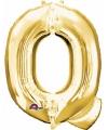 Letter q ballon goud 86 cm
