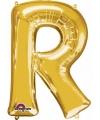 Letter r ballon goud 86 cm