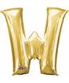 Letter w ballon goud 86 cm