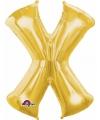 Letter x ballon goud 86 cm