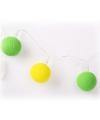 Lichtsnoer met balletjes groen en geel