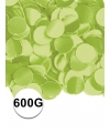 Lime groene confetti 600 gram
