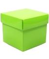 Lime groene decoratie kadootjes 10 cm