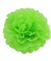 Lime groene decoratie pompom 35 cm
