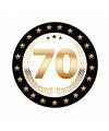 Luxe bierviltjes 70 jaar