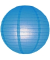 Luxe bol lampion blauw 25 cm