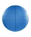 Luxe bol lampion blauw 35 cm