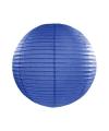 Luxe bol lampion donker blauw 25 cm