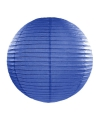 Luxe bol lampion donker blauw 35 cm