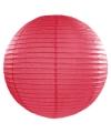 Luxe bol lampion fuchsia roze 50 cm