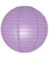 Luxe bol lampion lila 25 cm