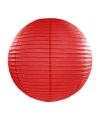 Luxe bol lampion rood 35 cm