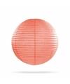 Luxe bol lampion zalm roze 25 cm