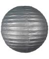 Luxe bol lampion zilver 25 cm
