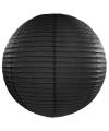 Luxe bol lampion zwart 50 cm