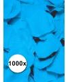 Luxe lichtblauwe rozenblaadjes 1000 stuks