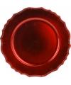 Luxe onderzet bord rood 33cm