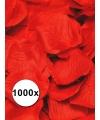 Luxe rode rozenblaadjes 1000 stuks