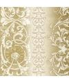Luxe servetten goud barok motief 3 laags 20 stuks