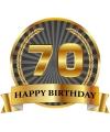 Luxe verjaardag mok beker 70 jaar