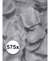 Luxe zilveren rozenblaadjes 575 stuks