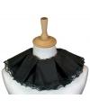 Luxe zwarte piet kraag zwart met kant