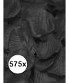 Luxe zwarte rozenblaadjes 575 stuks