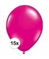 Magenta roze ballonnen 15 stuks