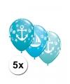 Marine thema ballonnen 5x