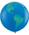 Mega ballon wereldbol 91 cm