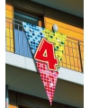 Mega decoratie vlag 4 jaar 90 x 150 cm