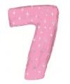 Mega folie ballon cijfer 7 roze
