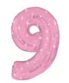 Mega folie ballon cijfer 9 roze