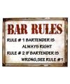 Metalen muurplaat bar regels 30 x 40 cm
