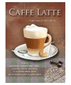 Metalen muurplaat caffe latte 15 x 20 cm