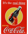 Metalen wandplaat coca cola the real thing