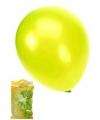 Metallic ballonnen appelgroen 50 stuks